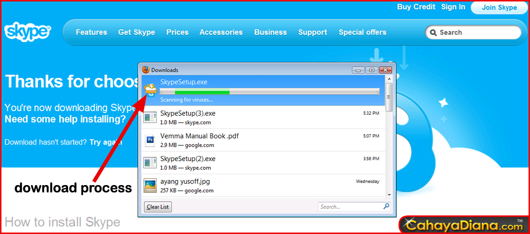 downloading skype into desktop
